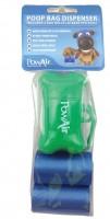PowAir Poop Bags 3x + Dispenser Green Foc