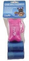 PowAir Poop Bag 3x + Dispenser Pink Foc